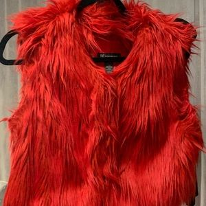Red fur vest brand inc